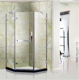 Pièce jointe ouverte de douche de cabine de douche de charnière de forme de diamant