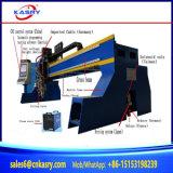 Corte del tubo de Steel&Round de la placa del plasma del CNC en una maquinaria