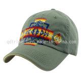 Gorra de béisbol lavada del deporte del golf del bordado de la tela cruzada del algodón (TMB0911)