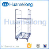 Armazenamento de supermercado Rolling Metal Security Cage Cart