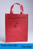 Sacs non-tissés portables épaissis tissés personnalisés, couture d'un sac à provisions
