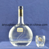 Fancy Xo Oval Vodka botellas de vino licor de vidrio con corcho