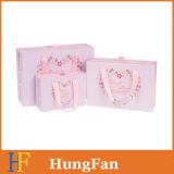 Estilo de paquete de regalo infantil juegos de cajón archivador Caja de papel con manija cinta