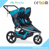 Doppi passeggiatori di automobile della sede del gemello dei passeggiatori infantili del bambino