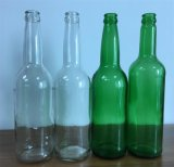 Bouteille en verre de couleur verte pour le jus de boisson