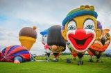 Personnages de dessins animés ballon à air chaud pour le parti et faire du tourisme