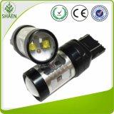 (7443) luz dobro do diodo emissor de luz do carro da cor do CREE T20 30W