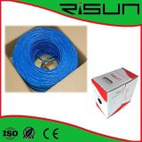 Cable de la chaqueta azul ETL Cmr de Unshield CAT6 el 1000ft