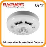 2ワイヤーの、遠隔LEDの出力、Enのアドレス指定可能な光学煙または熱の探知器(SNA-360-CL)