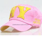 Продукция OEM подгоняла вышитую логосом бейсбольную кепку хлопка выдвиженческую