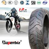17 pouces nouveaux OEM 6pr de la courroie de nylon mélangés de caoutchouc naturel des pneus diagonaux Pattern vide moto pneu (130/60-13) avec RoHS