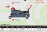 3 톤 70mm Ultra Low Profile Floor 잭