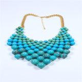 Nuevo elemento granos de acrílico de cristal situado en la pulsera del collar pendiente de la joyería de moda