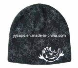 인쇄된 뜨개질을 한 베레모 모자 (YYCM-120364)