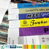 Wristband descartável personalizado da identificação do papel do festival para eventos