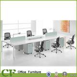 Economical bureau modulaire Mélamine moderne Partition Workstation pour 6 Personne