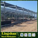 La estructura de acero H de la construcción emite edificios de marco