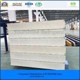 ISO、SGSは肉野菜のフルーツまたは酪農場の飲み物のための150mm浮彫りにされたアルミニウムPIRサンドイッチパネルを承認した