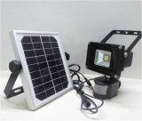 10W IP65 Waterproof a luz de inundação de acampamento recarregável psta solar portátil do diodo emissor de luz de Refletor