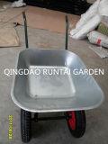 Wheelbarrow durável da construção das rodas pneumáticas dobro (Wb6404W)