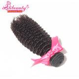 El pelo humano rizado rizado al por mayor lía el pelo sin procesar del Malaysian de la Virgen
