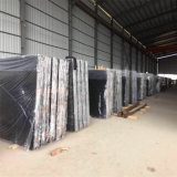 Le luxe de marbre noir absolu de marbre des prix de Marquina du noir chinois le meilleur marché de prix usine a décoré le marbre noir avec le blanc