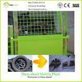 Seul double défibreur conçu d'arbre pour le découpage et la réutilisation de pneu de 1200 millimètres
