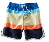 Mode d'été 2014 court pantalon à rayures multicolores les lignes de réseau