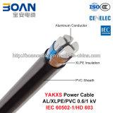 Yakxs, Cable de alimentación de baja tensión, 0.6/1, Al/Kv XLPE (IEC 60502-1/PVC/HD 603)