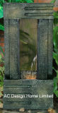 Antikes Decortive Polyresin im Freien Licht des Garten-Wasser-Brunnen-W/LED