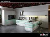 Welbom moderno mobiliário de cozinha de alto brilho e armário de cozinha