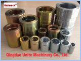 Raccords de ferrure de tuyau hydraulique Qingdao pour flexible SAE 100r2at2sn (00210)