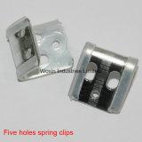 Quatre clips à ressort de trous avec la couverture en plastique