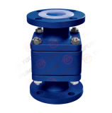 Ball di galleggiamento Check Valve con PFA Lined