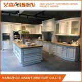 2018 luxo elegante mobiliário de armário de cozinha em madeira maciça