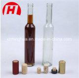 botella de vino de cristal transparente 375ml/ambarina verde del hielo