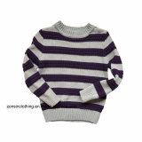 Gestrickte Pullover-gestreifte Strickjacke der Jungen