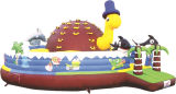 2017best Sale 0.55mmpvc Inflable Bouncy, Inflable Castillo Bouncy, Jumping Castillo para Niños