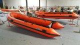 4.7m 15.4FT Canto Inflatable Boat para resgate e esportes ou lutar contra Floodopt Aliminum Floor Plywood ou Air Deck com Ce Cert. Para venda quente