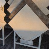 Azulejo de mármol blanco de seda del mejor oro de la venta para el mosaico de la pared