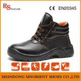 Carregador do trabalho das sapatas de segurança do dedo do pé de aço do corte do meio e da placa de aço