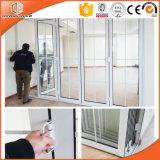 Дверь термально пролома алюминиевая Bi-Складывая, складывающ и сползающ алюминиевую дверь патио, дверь польностью Tempered стекла двойной застеклять