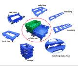 Carrello mobile di plastica accatastabile personalizzato della mano del carrello di giro d'affari di logistica