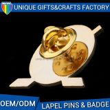 Pin de la solapa del metal para el regalo promocional Insignia de encargo del botón de la lata del logotipo
