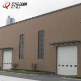 Portello industriale sezionale automatico del garage con la finestra visiva
