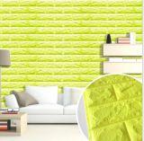 Painel de parede do tijolo da espuma/etiqueta/papel impermeáveis de pouco peso