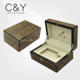 Custom lujo del perfume de madera regalo caja de embalaje