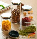 Glasverpacken- der Lebensmittelglas gedichteter Kappe GlasSeasalt Glas-Glas-Kanister