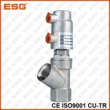 Válvula de enchimento pneumática do aço inoxidável de Esg