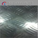 La configuration de barre cinq a gravé la plaque en relief de l'acier inoxydable 304